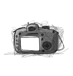 Camera sketch for your design vector image