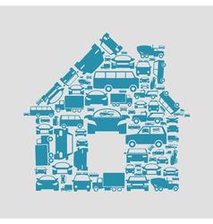 Car the house vector