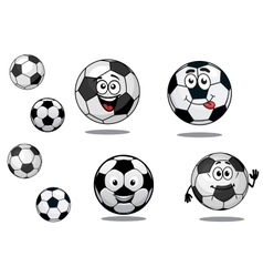 Cartoon soccer or football balls vector image vector image