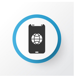 cellphone icon symbol premium quality isolated vector image