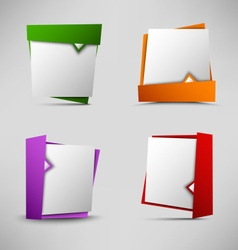 Colored pointers design element template vector