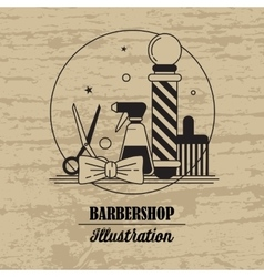 Composition of the set icons for the Barber shop vector image