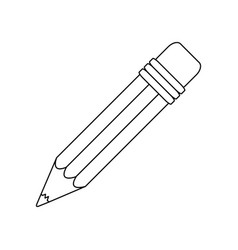 contour pencil icon stock image vector image