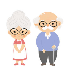 couple elderly with smile face vector image