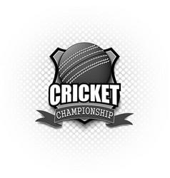 cricket logo template design vector image