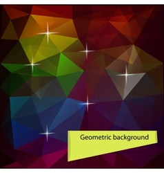 Dark colored polygon geometric background vector image