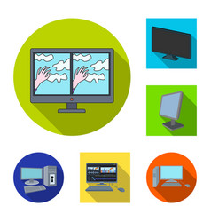 design of screen and computer icon set of vector image