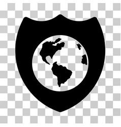 Earth shield icon vector