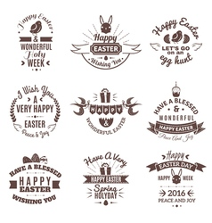 Easter emblem set vector