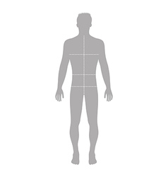 Fashion man full length vector