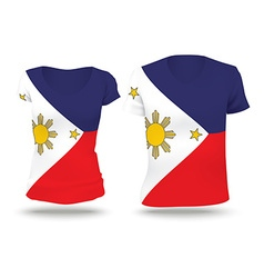 Flag shirt design of Philippines vector