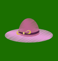 flat shading style icon women hat vector image