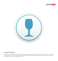 glass icon - white circle button vector image