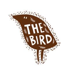 Hand drawn bird vector