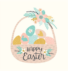 happy easter templates for card poster vector image