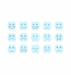 happy teeth set vector image