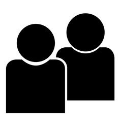 human sociability two man avatar black color icon vector image
