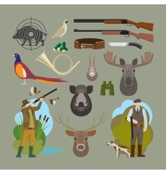 Hunting elements vector