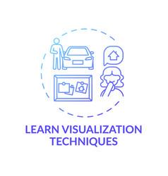 Learn visualization technique blue gradient vector