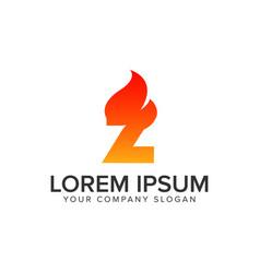 Letter z ignition flame logo design concept vector