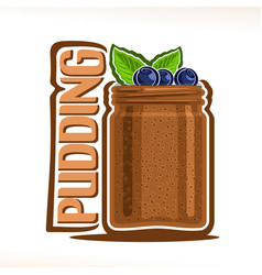 Logo for chocolate pudding vector