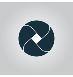 Loop icon vector image