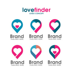 love pin logo vector image