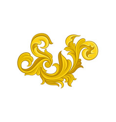 luxurious baroque ornament golden floral pattern vector image