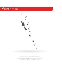 map vanuatu isolated black vector image