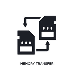 Memory transfer isolated icon simple element from vector