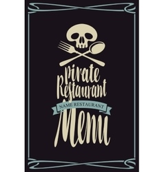 menus for pirate restaurants vector image