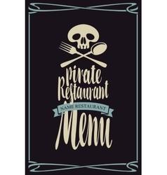 Menus for pirate restaurants vector