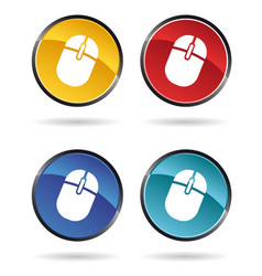 mouse icons vector image