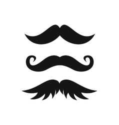 Moustaches icon in simple style vector image
