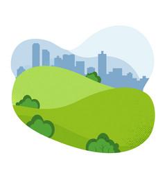 nature landscape empty urban garden city park vector image