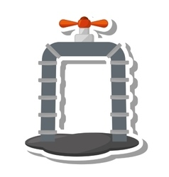 Oil industry pipeline isolated icon vector
