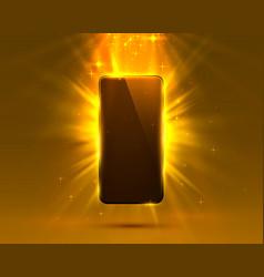 Phone cover orange color design modern background vector