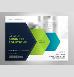 professional brochure presentation template in vector image