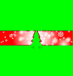 red merry christmas vintage background with green vector image