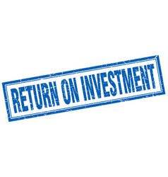 Return on investment square stamp vector