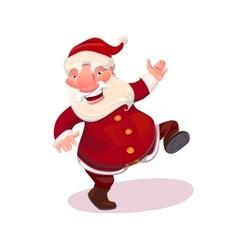 Santa dancing vector