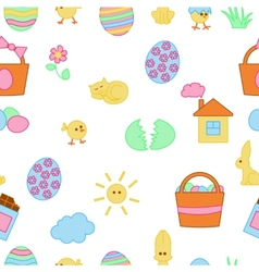 Seamless cartoon Easter texture vector