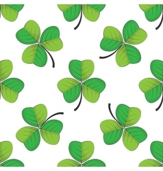 seamless retro pattern shamrock vector image