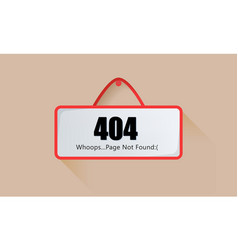 Sign page 404 not found vector