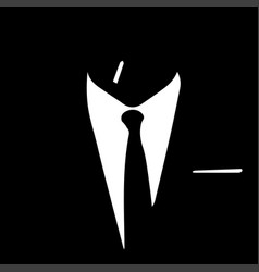 silhouette of a business man vector image