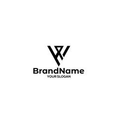 Simple wh logo design vector