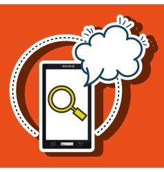 Smartphone cloud search speack vector