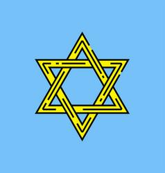 Star david symbol vector