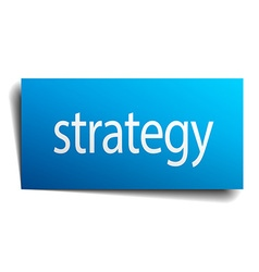 strategy blue paper sign on white background vector image