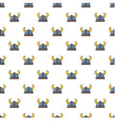 swedish viking helmet pattern seamless vector image